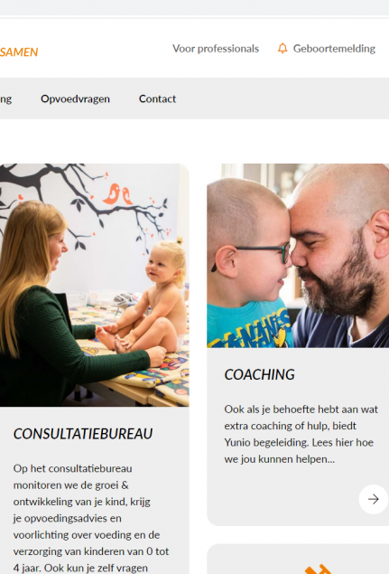 Website en geboortemelding